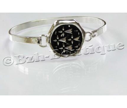 Bracelet jonc sceau hermine