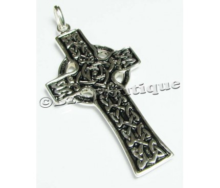 KELT celtic knotwork cross pendant