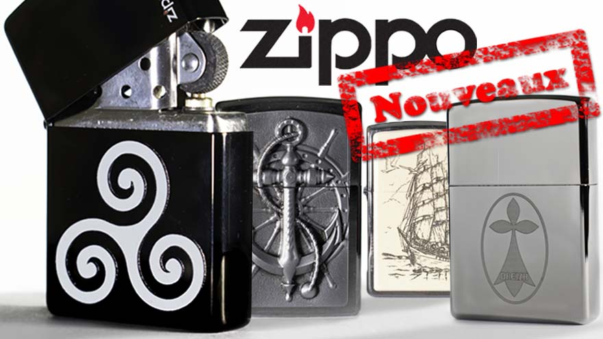 Collection de Zippos bretons